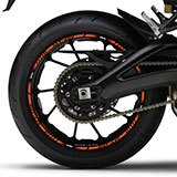 Car & Motorbike Stickers: Rim stripes sticker Yamaha MT 09 5