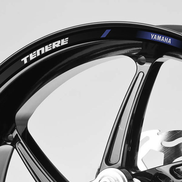 Car & Motorbike Stickers: Rim stripes sticker Yamaha Tenere 660