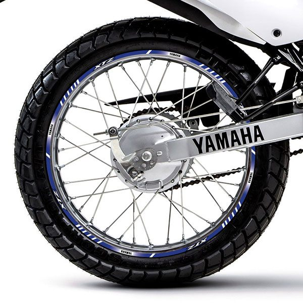 Car & Motorbike Stickers: Rim stripes sticker Yamaha XTZ 125