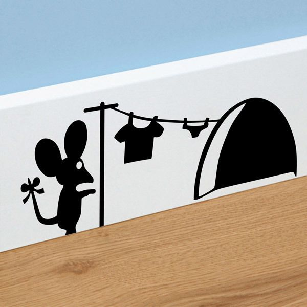 Wall Stickers: Clothing Mouse