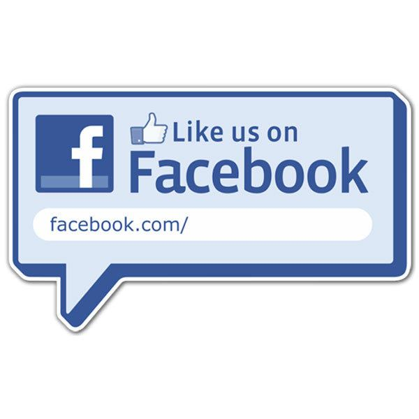 Wall Stickers: Like us on Facebook