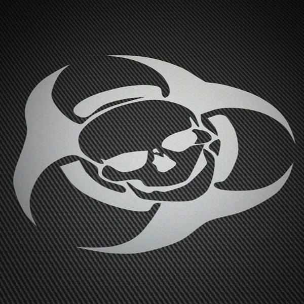 Car & Motorbike Stickers: Trival skull