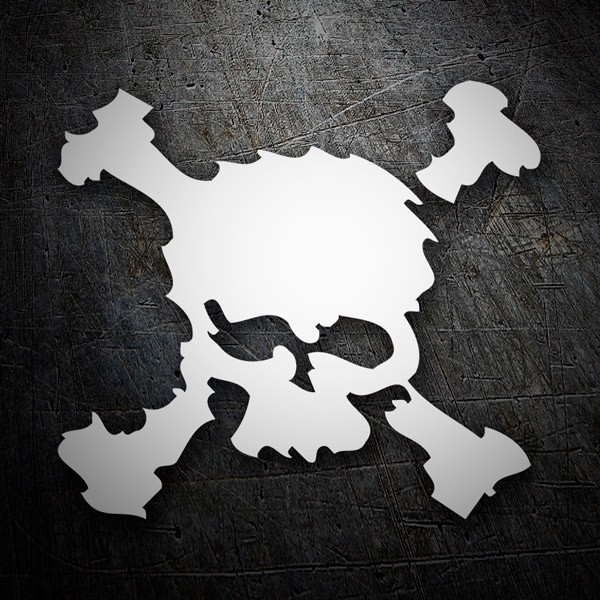 Car & Motorbike Stickers: Blurred skull