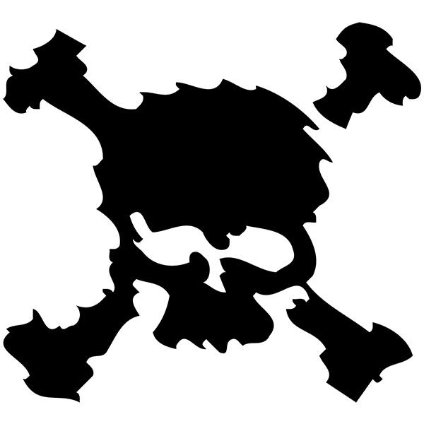 Car and Motorbike Stickers: skull25