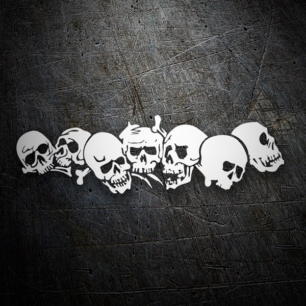 Car & Motorbike Stickers: Piled skulls