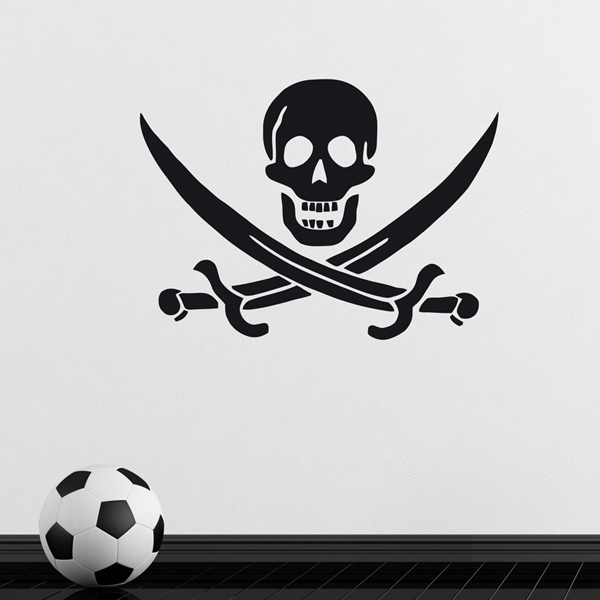 Car and Motorbike Stickers: Pirate John Rackham