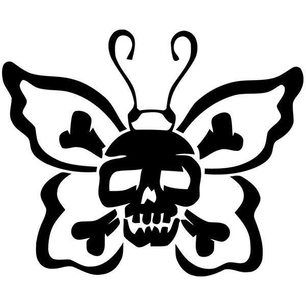 Car & Motorbike Stickers: Skull Butterfly