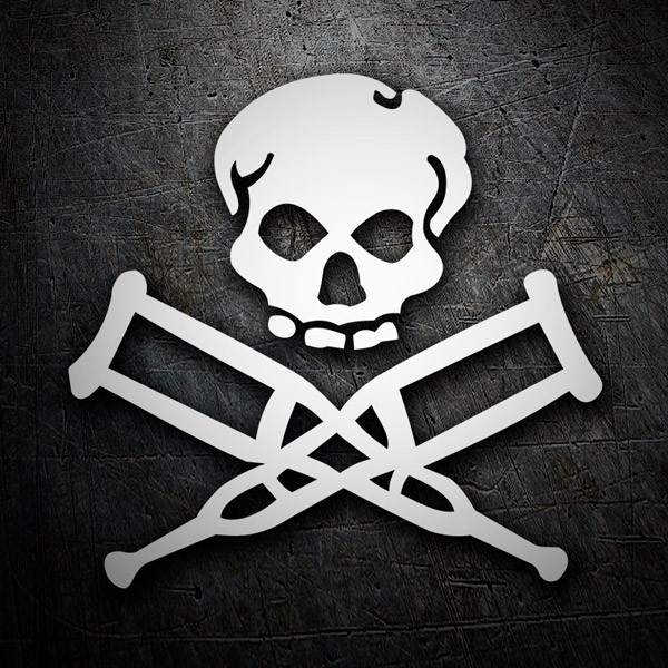 Car & Motorbike Stickers: Skull Jackass