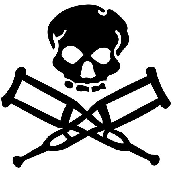 Car and Motorbike Stickers: Skull Jackass