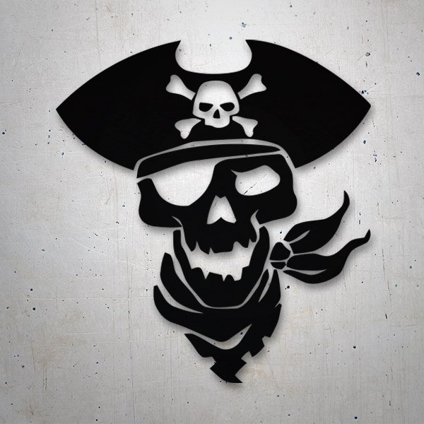Car & Motorbike Stickers: Pirate skull