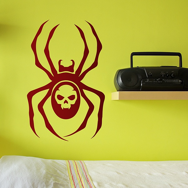 Wall Stickers: Skull Spider