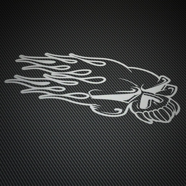 Car & Motorbike Stickers: Fire skull