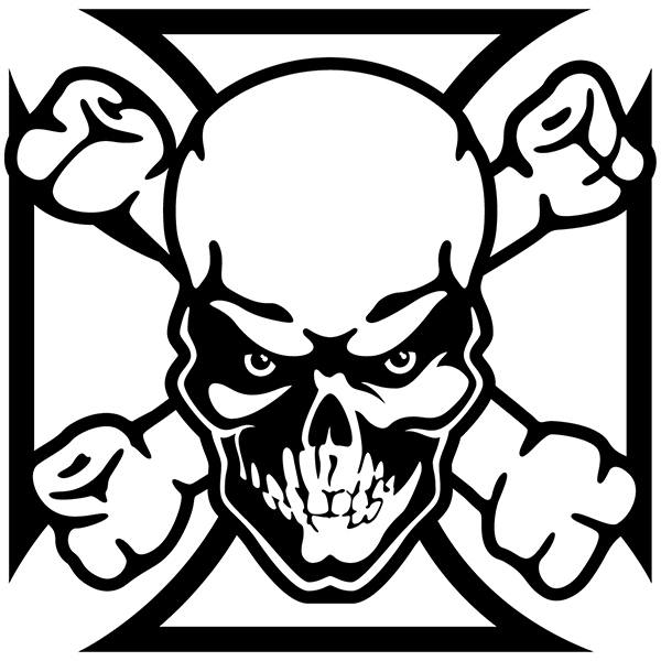 Car and Motorbike Stickers: Skull 69