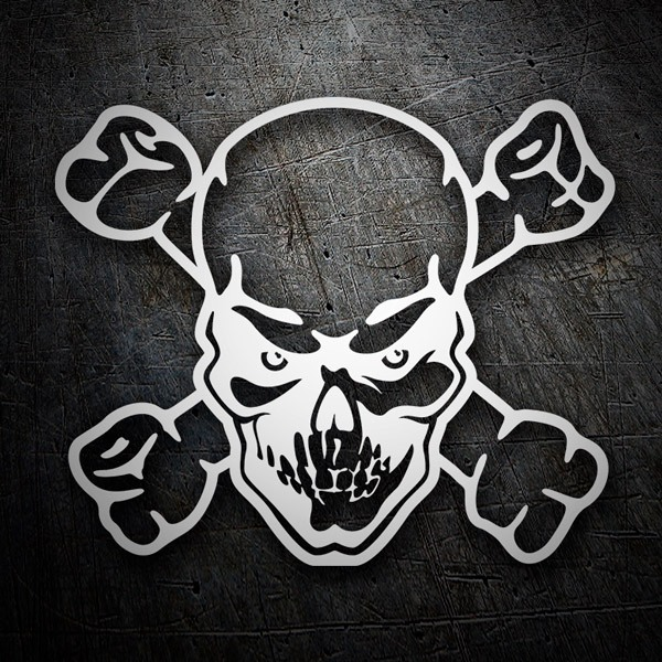 Car & Motorbike Stickers: Angry skull