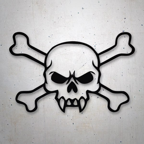 Car & Motorbike Stickers: Skull 76