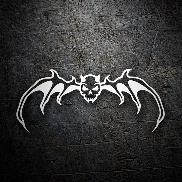 Car & Motorbike Stickers: Skull Bat
