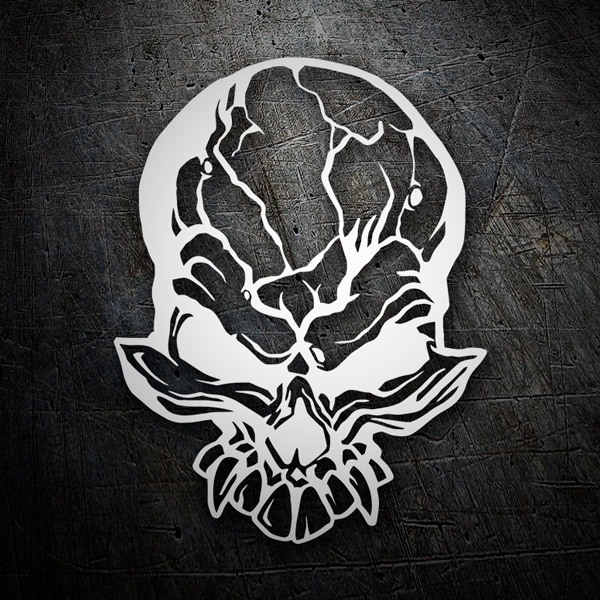 Car & Motorbike Stickers: Demon skull