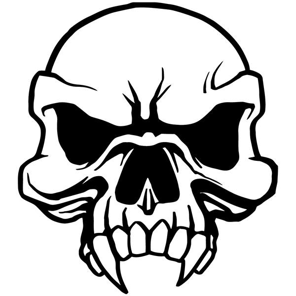 Car Amp Motorbike Stickers Skull 80