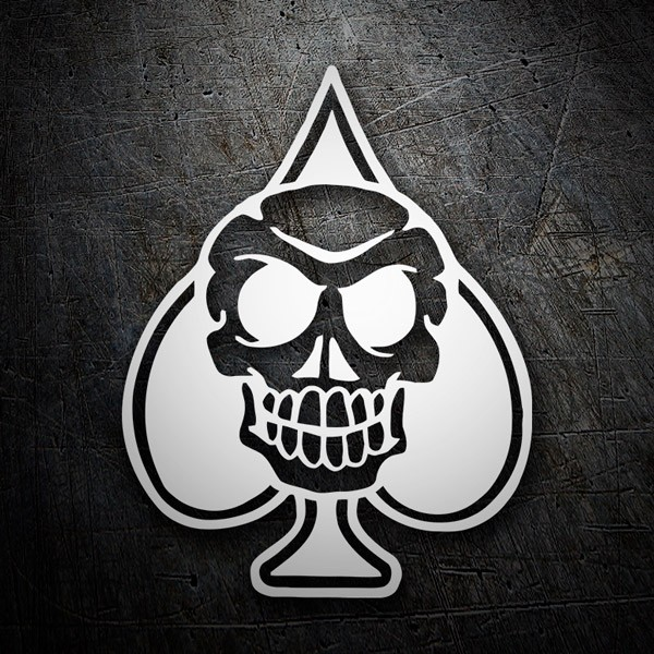 Car & Motorbike Stickers: Skull Spades