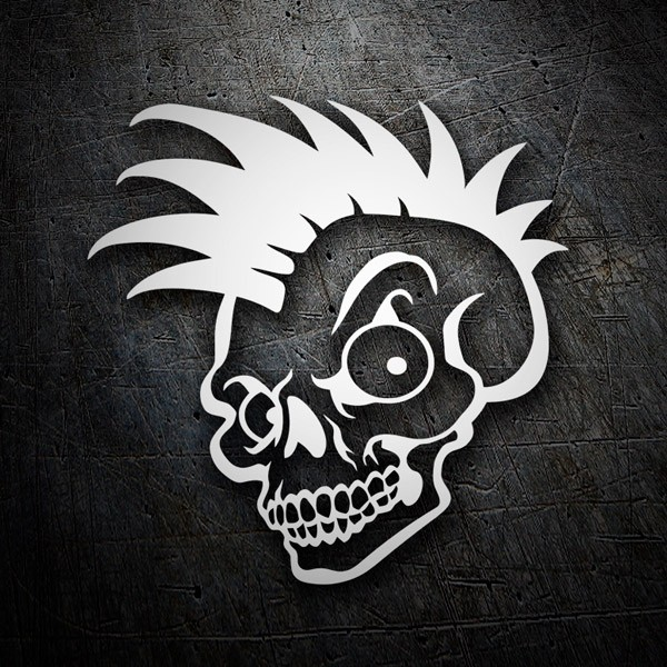 Car & Motorbike Stickers: Skull crest