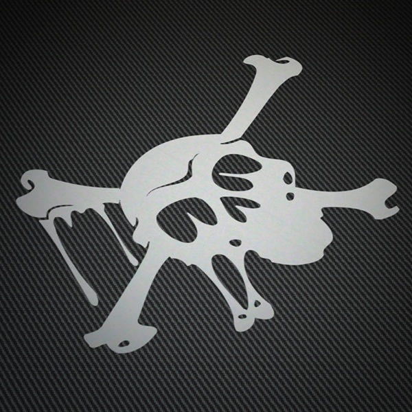 Car & Motorbike Stickers: Skull red beard