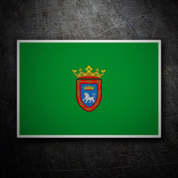 Car and Motorbike Stickers: Flag Pamplona
