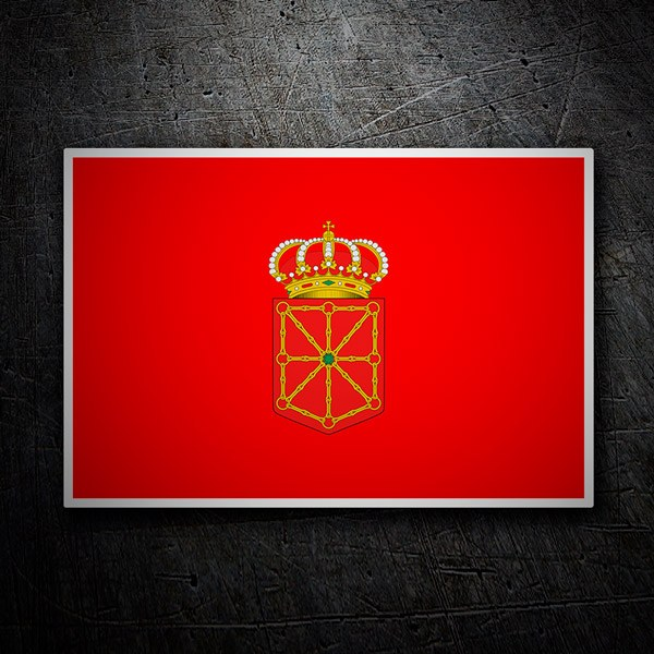 Car and Motorbike Stickers: Flag Navarra