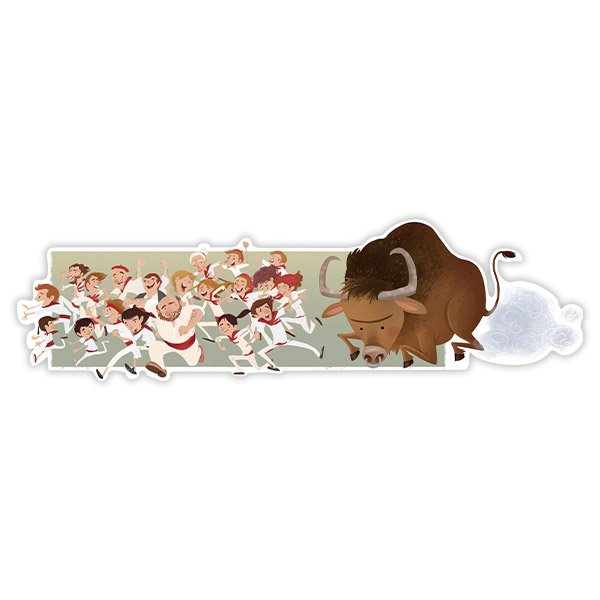 Wall Stickers: The San Fermin festival