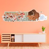 Wall Stickers: The San Fermin festival 3
