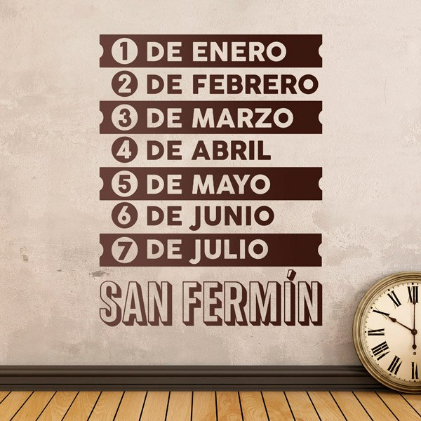Wall Stickers: Song San Fermin