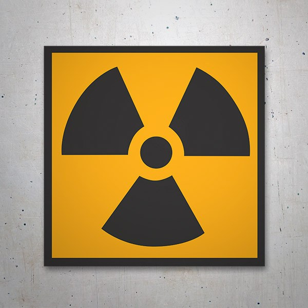 Car & Motorbike Stickers: Sign sticker Radioactivity