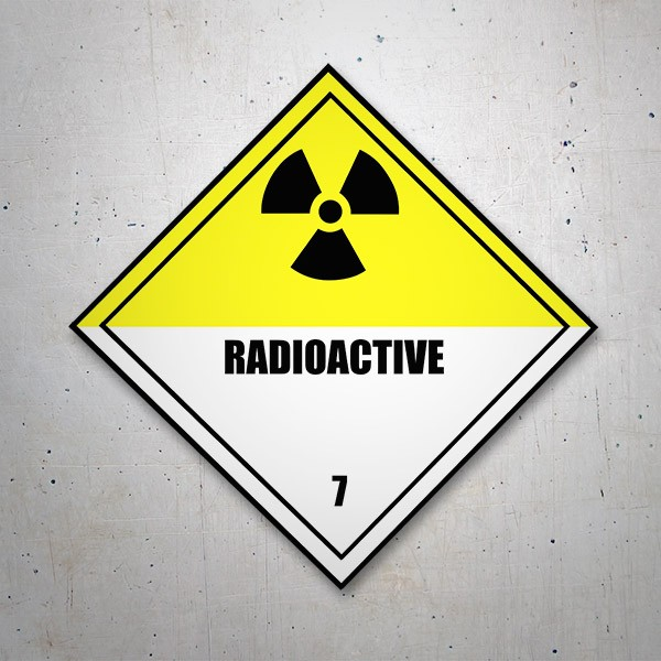 Car & Motorbike Stickers: Sign decal Radioactivity