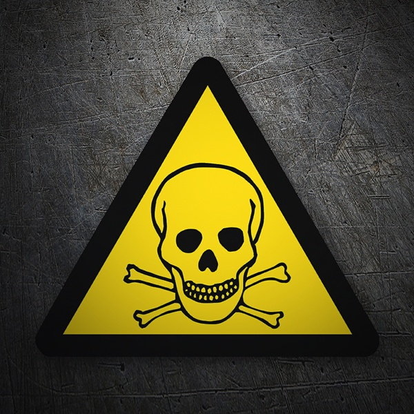 Car & Motorbike Stickers: Warning sign sticker toxic