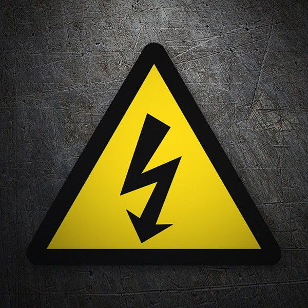 Car & Motorbike Stickers: Warning sign sticker High voltage