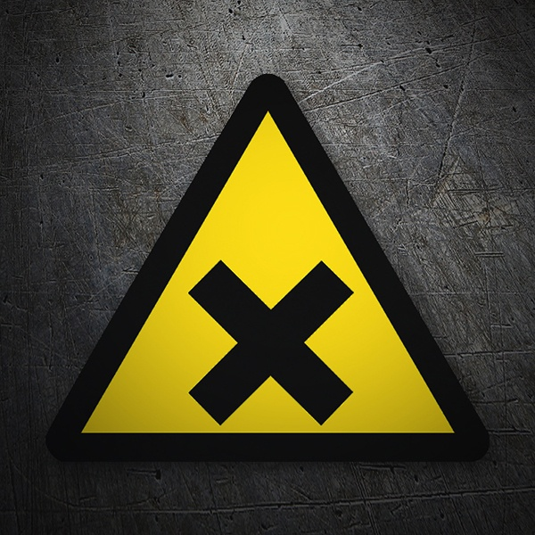 Car & Motorbike Stickers: Warning sign sticker Irritation