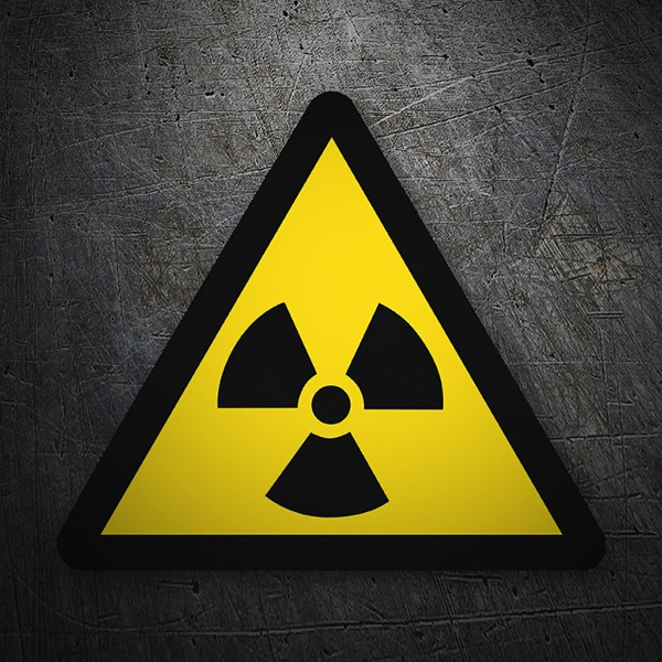 Car & Motorbike Stickers: Warning sign sticker radioactivity
