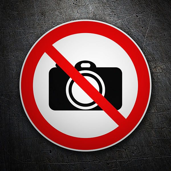 Car & Motorbike Stickers: Forbidden cameras