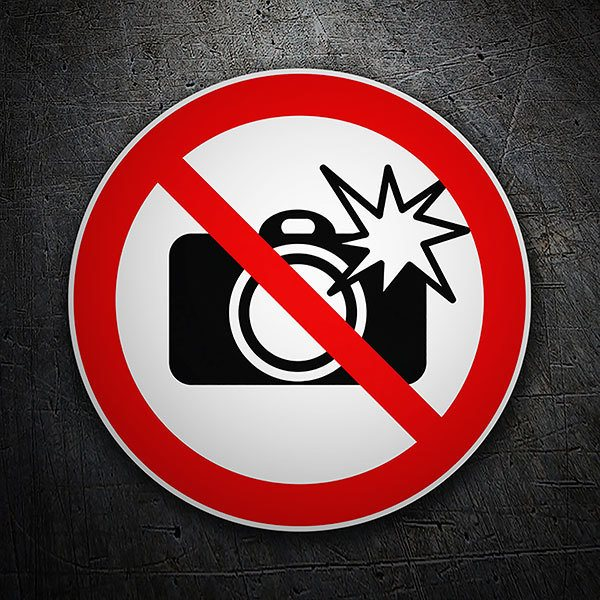 Car & Motorbike Stickers: Forbidden cameras with flash