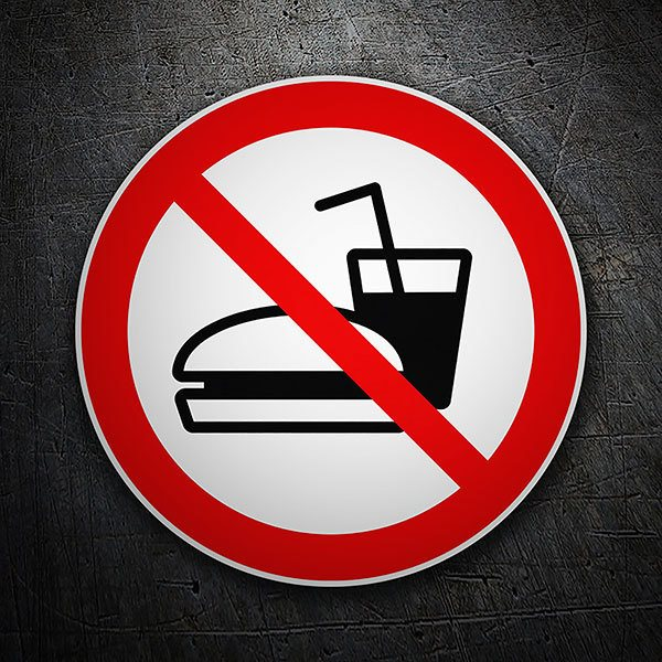 Car & Motorbike Stickers: Forbidden to eat junk food
