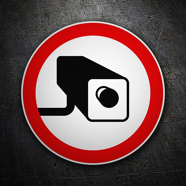 Car & Motorbike Stickers: Warning surveillance cameras