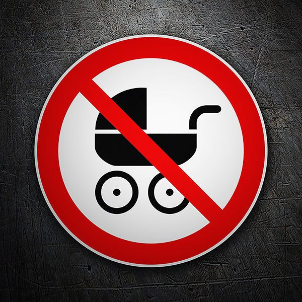 Car & Motorbike Stickers: Forbidden baby carriages