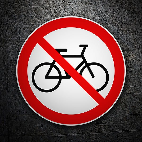 Car & Motorbike Stickers: Forbidden riding a bicycle