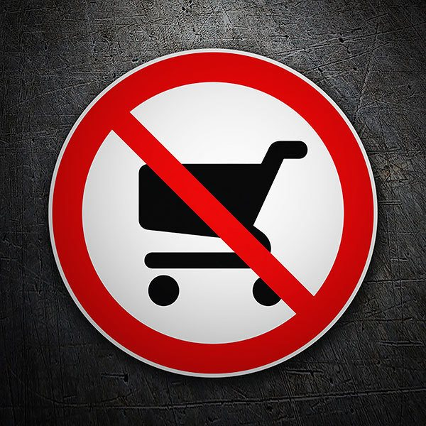 Car & Motorbike Stickers: Forbidden to enter the shopping cart