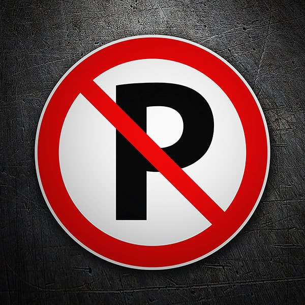 Car & Motorbike Stickers: No parking