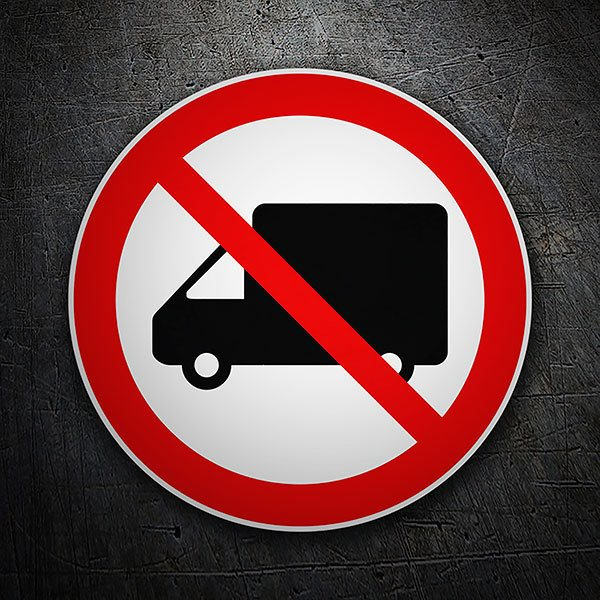 Car & Motorbike Stickers: No trucks allowed