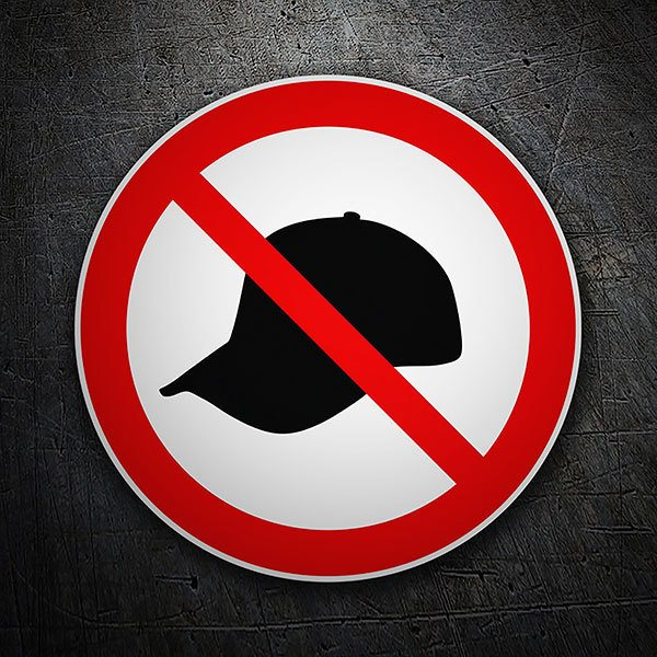 Car & Motorbike Stickers: It is forbidden to wear a cap