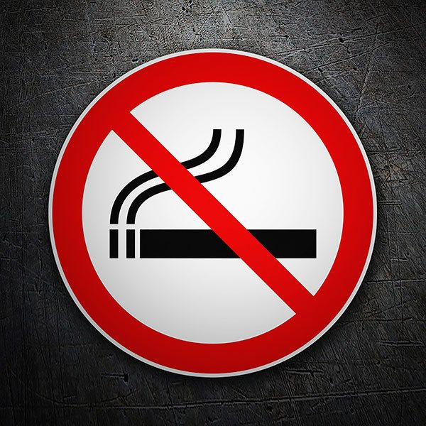 Car & Motorbike Stickers: No smoking