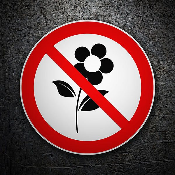 Car & Motorbike Stickers: Forbidden to pluck flowers