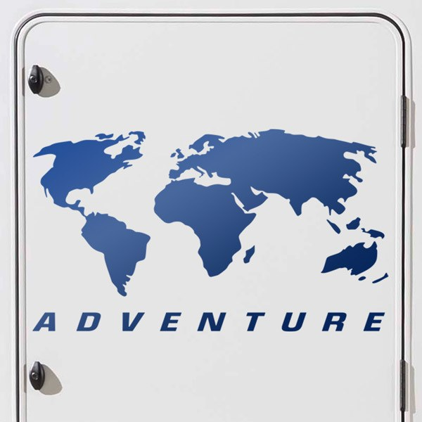 Car & Motorbike Stickers: Jeep Map Adventure