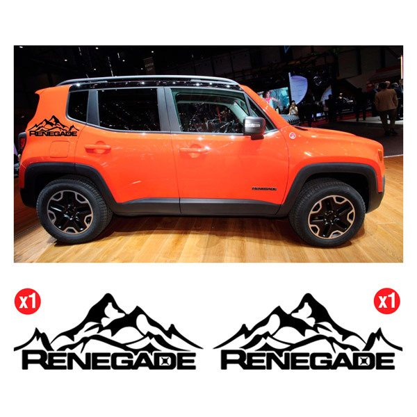 Car & Motorbike Stickers: Set 2X Renegade Snowy Mountain Side Bands